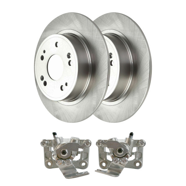Rear Disc Brake Calipers and Rotors Kit, Driver and Passenger Side - Part # R41481LR-BC30298
