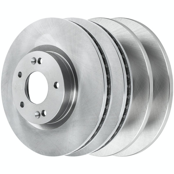 Set of 4 New Brake Disc Rotors 2 Complete Pairs Kit - Part # R41491R41443