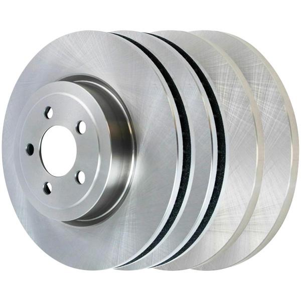 [Front + Rear] Full Set of 4 Brake Rotors - Part # R63024R63023