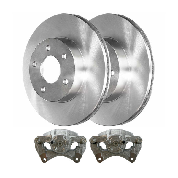 Front Disc Brake Calipers and Rotors Kit, Driver and Passenger Side - Part # R63039LR-BC30068