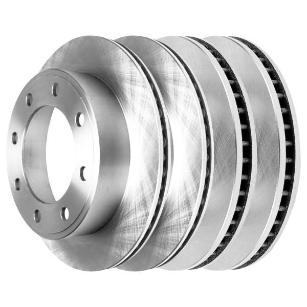 [Front & Rear Set] 4 Brake Rotors - Part # R64080R64076