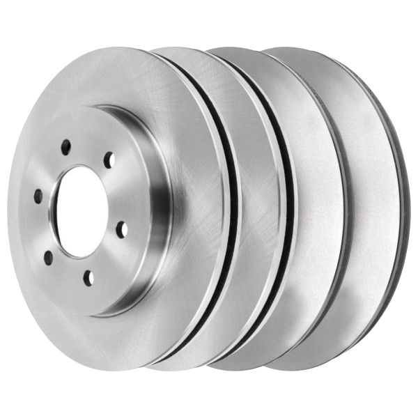 [Front & Rear Set] 4 Brake Rotors - Part # R64113R64111