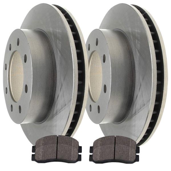 [Front Set] 2 Brake Rotors & 1 Set Ceramic Brake Pads - Part # R64126SCD1069