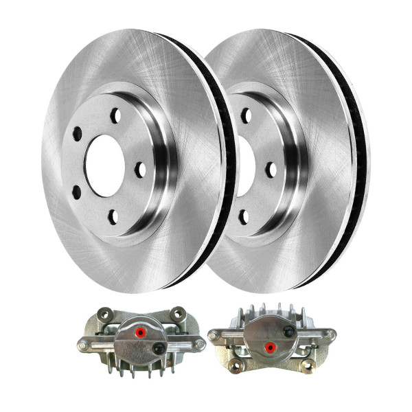 Front Disc Brake Calipers and Rotors Kit, Driver and Passenger Side - Part # R65042PR-BC2652