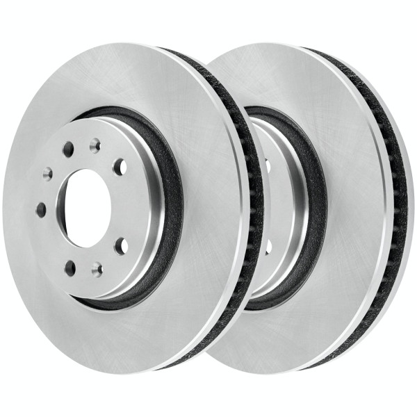 Front Brake Rotor Pair 2 Pieces Fits Driver and Passenger side 5 Stud 11.92 Inch Rotor Diameter - Part # R65084PR