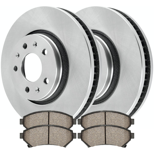 Front Set Disc Brake Rotors and Ceramic Pads Kit for 2003-2004 Cadillac Seville - Part # R65084SCD699