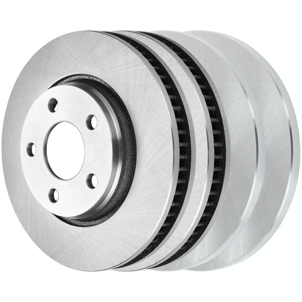 [Front & Rear Set] 4 Brake Rotors - Part # R65089R65087