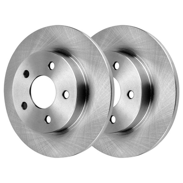 Rear Brake Rotor Pair 2 Pieces Fits Driver and Passenger side 4 Wheel Disc - Part # R65096PR