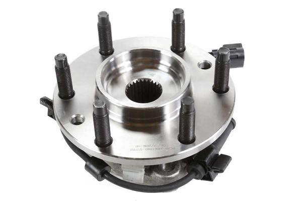[Front Set] 2 Brake Rotors & 1 Set Ceramic Brake Pads & 2 Wheel Hub Bearing Assemblies - Part # RHBBK0210