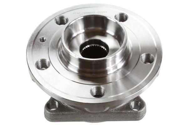 [Rear Set] 2 Brake Rotors & 1 Set Ceramic Brake Pads & 2 Wheel Hub Bearing Assemblies - Part # RHBBK0369