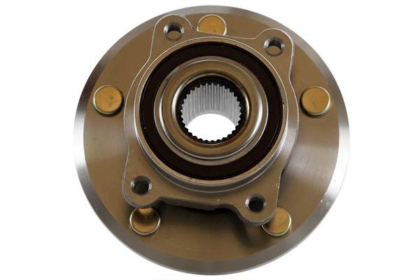 [Front Set] 2 Brake Rotors & 1 Set Ceramic Brake Pads & 2 Wheel Hub Bearing Assemblies - Part # RHBBK0412