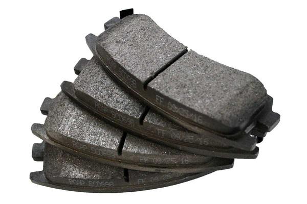 [Rear Set] 2 Brake Rotors & 1 Set Ceramic Brake Pads & 2 Wheel Hub Bearing Assemblies - Part # RHBBK0462