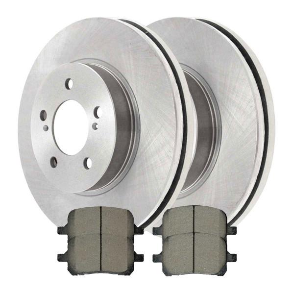 [Set] Front Brake Rotors & 4 Ceramic Pads Complete Kit Left & Right - Part # RSCD41052-41052-707-2-4