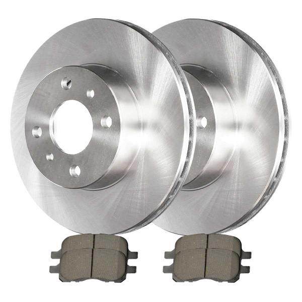 Front Ceramic Brake Pad and Rotor Bundle - Part # RSCD41058-41058-741-2-4