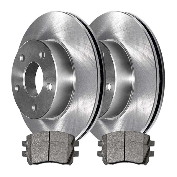 Front Ceramic Brake Pad and Rotor Bundle 10 7/8 Inch Rotor Diameter - Part # RSCD41061-41061-721-2-4