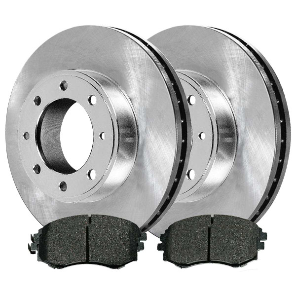 Front Ceramic Brake Pad and Rotor Bundle - Part # RSCD41111-41111-700-2-4