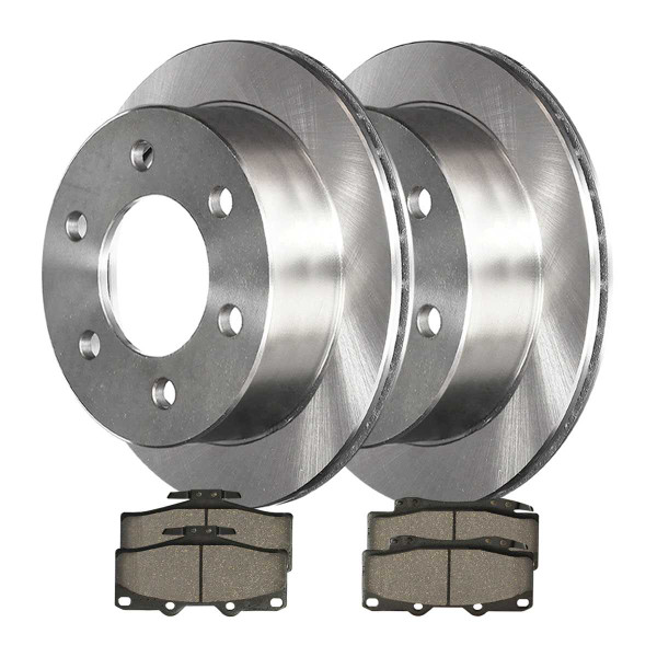 Front Ceramic Brake Pad and Rotor Bundle 6 Stud 11.68 Inch Rotor Diameter - Part # RSCD41167-41167-436A-2-4