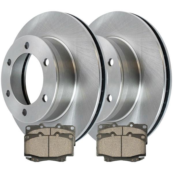 [Front Set] 2 Brake Rotors & 1 Set Ceramic Brake Pads - Part # RSCD41167-41167-799-2-4