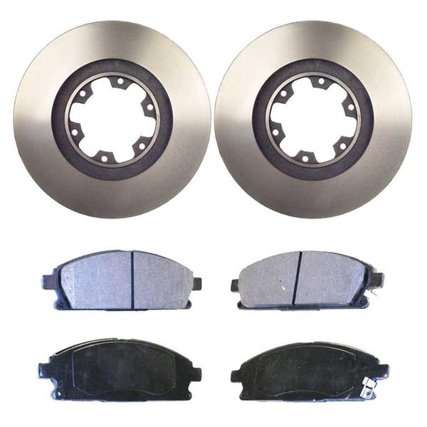 [Front Set] 2 Brake Rotors & 1 Set Ceramic Brake Pads - Part # RSCD41252-41252-855-2-4