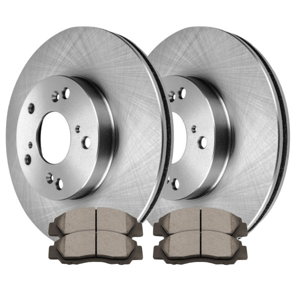 Front Set Disc Brake Rotors and Ceramic Pads Kit for 1998-2002 Honda Accord 3.0L - Part # RSCD41259-41259-503-2-4