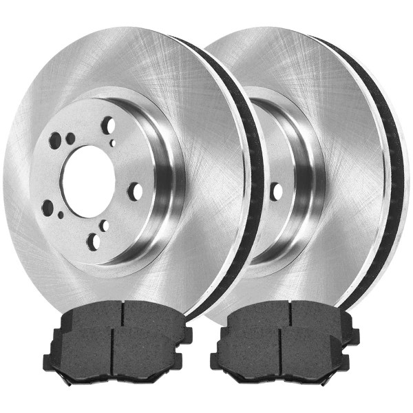 Front Ceramic Brake Pad and Rotor Bundle 11.1 Inch Rotor Diameter - Part # RSCD41259-41259-914-2-4