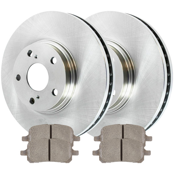 [Front Set] 2 Brake Rotors & 1 Set Ceramic Brake Pads - Part # RSCD41268-41268-707-2-4