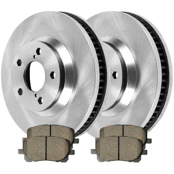 [Front Set] 2 Brake Rotors & 1 Set Ceramic Brake Pads - Part # RSCD41272-41272-923-2-4