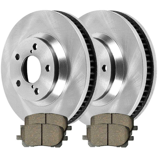 [Front Set] 2 Brake Rotors & 1 Set Ceramic Brake Pads - Part # RSCD41272-41272-923-2-4