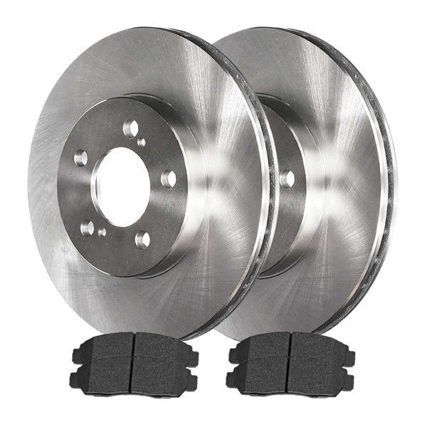 Front Ceramic Brake Pad and Rotor Bundle 11.8 Inch Rotor Diameter - Part # RSCD41277-41277-787-2-4