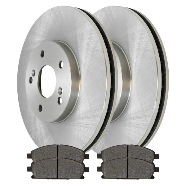 [Front Set] 2 Brake Rotors & 1 Set Ceramic Brake Pads - Part # RSCD41277-41277-855-2-4