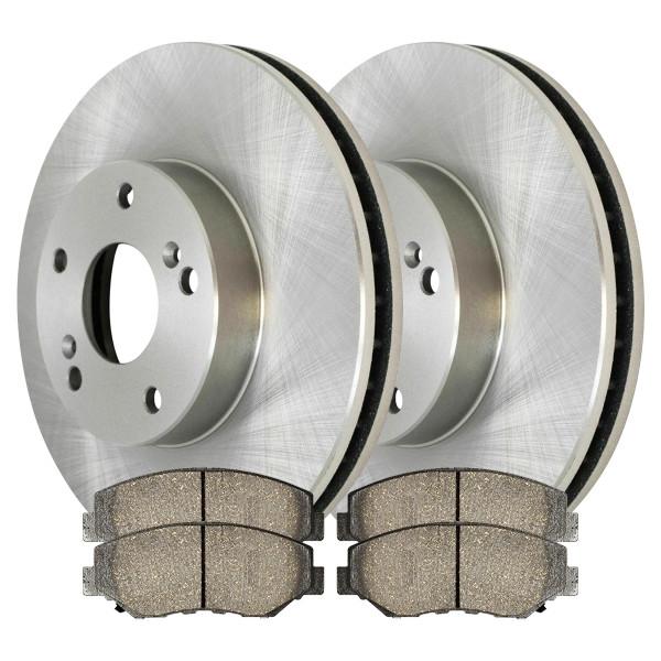 [Front Set] 2 Brake Rotors & 1 Set Ceramic Brake Pads - Part # RSCD41277-41277-914-2-4