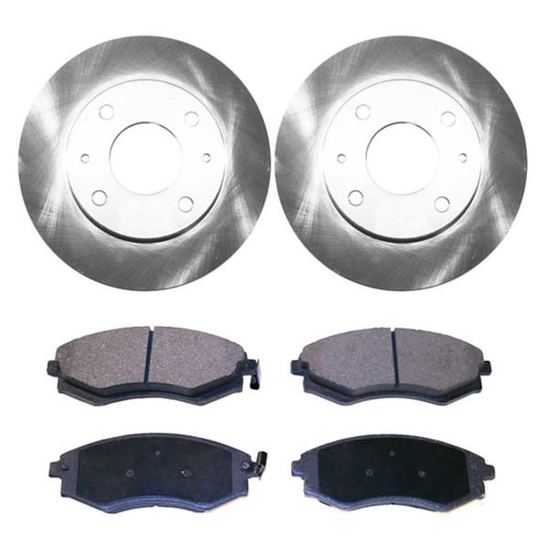 [Front Set] 2 Brake Rotors & 1 Set Ceramic Brake Pads - Part # RSCD41311-41311-700-2-4