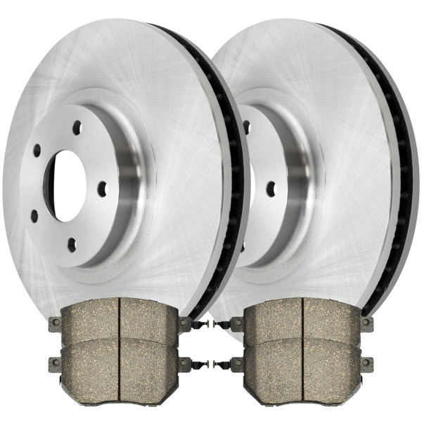 [Front Set] 2 Brake Rotors & 1 Set Ceramic Brake Pads - Part # RSCD41332-41332-969-2-4