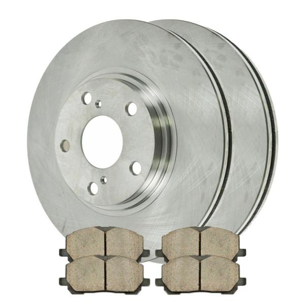 [Front Set] 2 Brake Rotors & 1 Set Ceramic Brake Pads - Part # RSCD41333-41333-884-2-4
