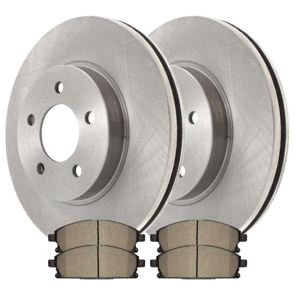[Front Set] 2 Brake Rotors & 1 Set Ceramic Brake Pads - Part # RSCD41391-41391-855A-2-4