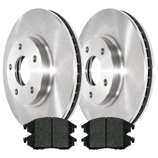 [Front Set] 2 Brake Rotors & 1 Set Ceramic Brake Pads - Part # RSCD41391-41391-888-2-4