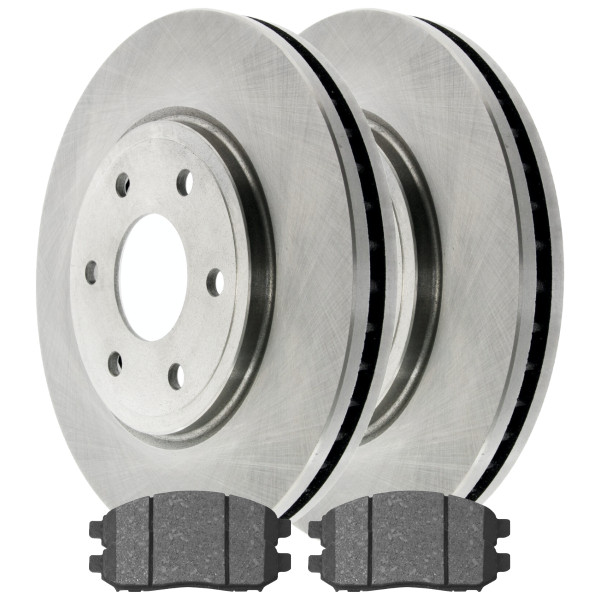 Front Ceramic Brake Pad and Rotor Bundle - Part # RSCD41414-41414-1094-2-4