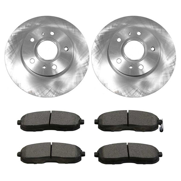 [Front Set] 2 Brake Rotors & 1 Set Ceramic Brake Pads - Part # RSCD41501-41501-815A-2-4