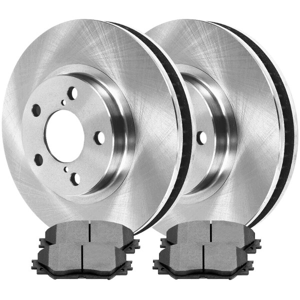 [Front Set] 2 Brake Rotors & 1 Set Ceramic Brake Pads - Part # RSCD41507-41507-1210-2-4