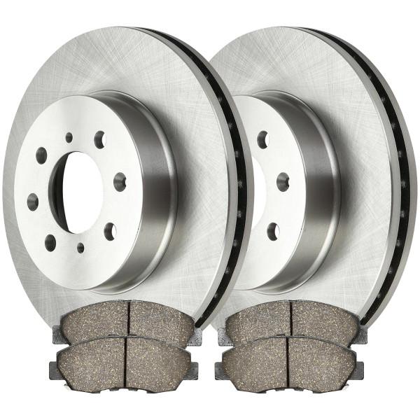 [Front Set] 2 Brake Rotors & 1 Set Ceramic Brake Pads - Part # RSCD4297-4297-465A-2-4