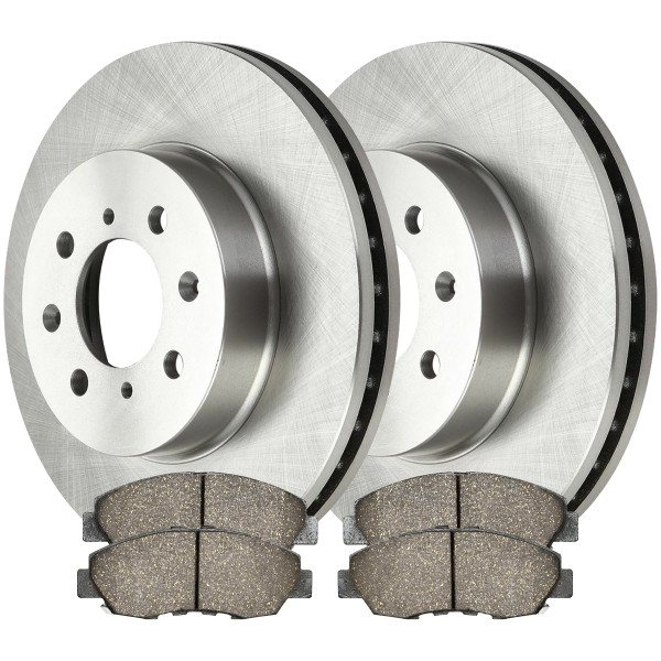 [Front Set] 2 Brake Rotors & 1 Set Ceramic Brake Pads - Part # RSCD4297-4297-465A-2-4