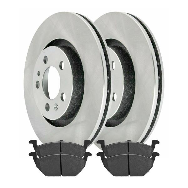 [Front Set] 2 Brake Rotors & 1 Set Ceramic Brake Pads - Part # RSCD44145-44145-768-2-4