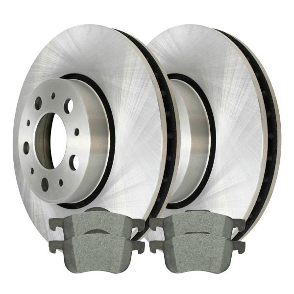 Front Ceramic Brake Pad and Rotor Bundle 286mm Rotor Diameter - Part # RSCD44209-44209-794-2-4