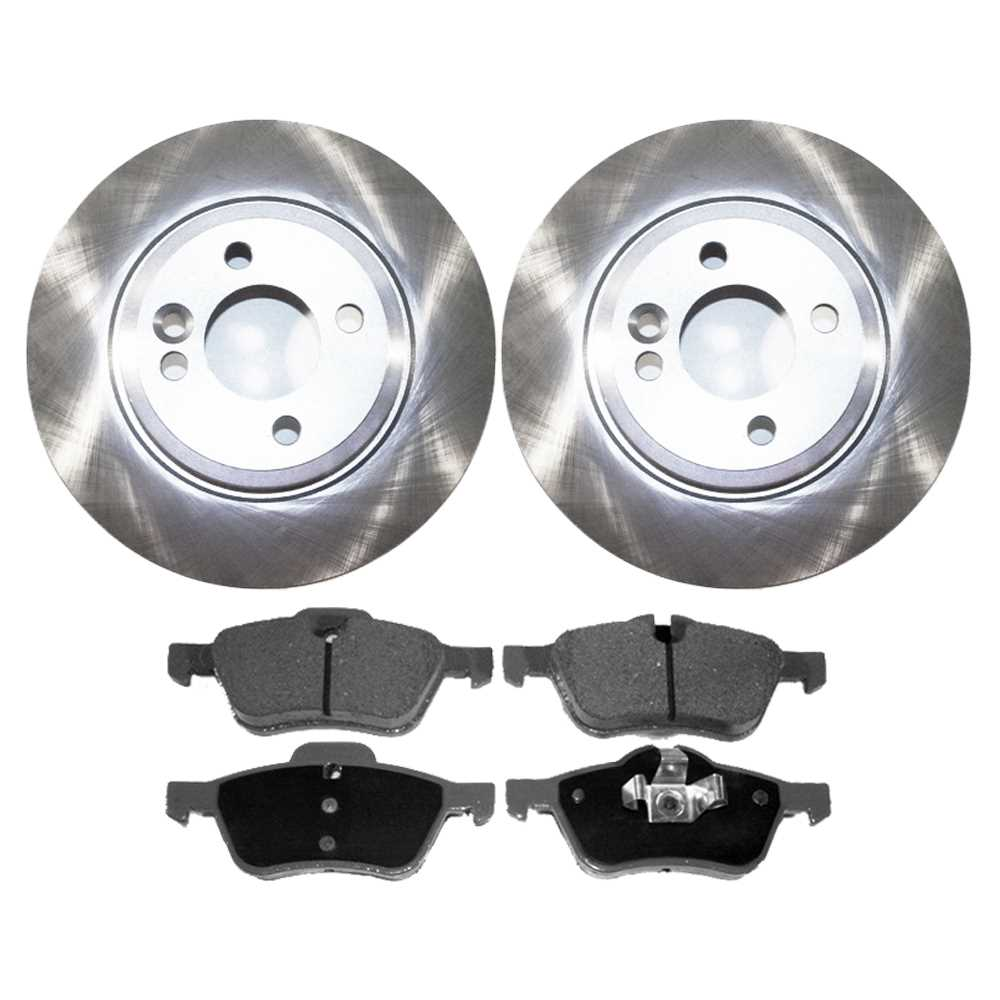 Prime Choice Auto Parts RSCD44233-44233-939-2-4 Premium Front Ceramic Brake Pads and Disc Rotors