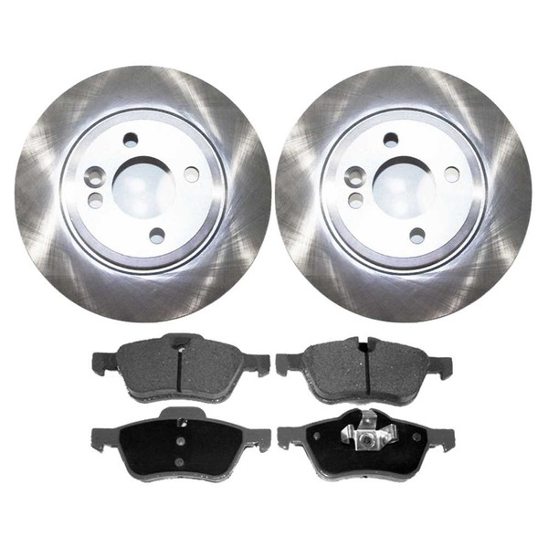 Front Ceramic Brake Pads and Disc Rotors Complete Kit Left & Right Pair - Part # RSCD44233-44233-939-2-4