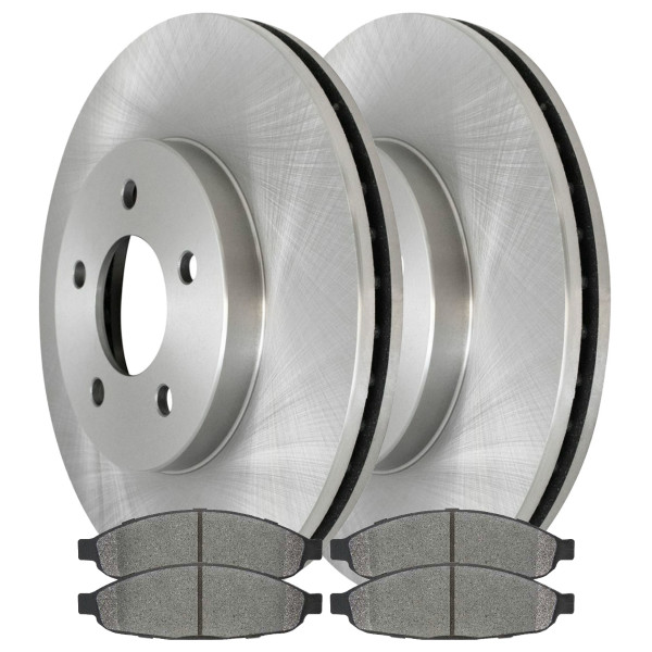 [Front Set] 2 Brake Rotors & 1 Set Ceramic Brake Pads - Part # RSCD63021-63021-997-2-4