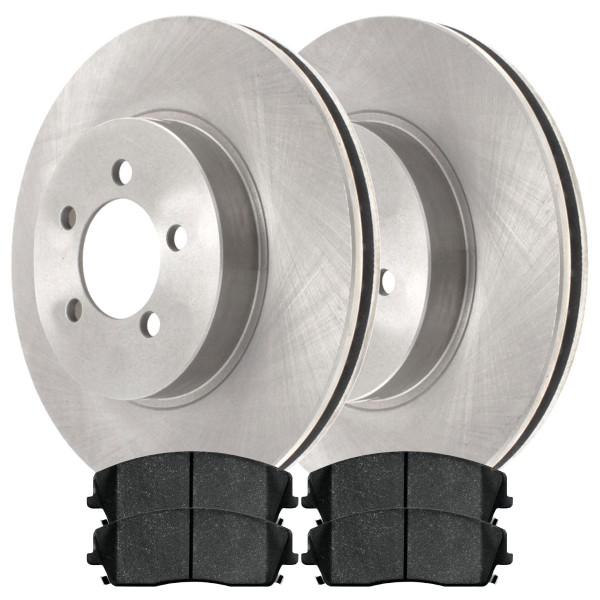 Front Ceramic Brake Pad and Rotor Bundle 12.60 Inch Diameter - Part # RSCD630241056