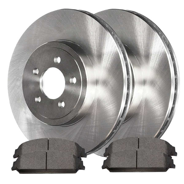 Front Ceramic Brake Pad and Rotor Bundle 13.6 Inch Rotor Diameter - Part # RSCD63025-63025-1058-2-4