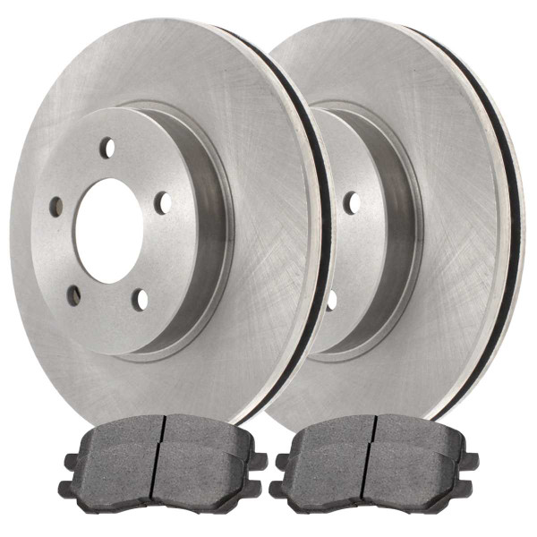 Front Ceramic Brake Pad and Rotor Bundle 11.57 Inch Rotor Diameter - Part # RSCD63040-63040-866-2-4