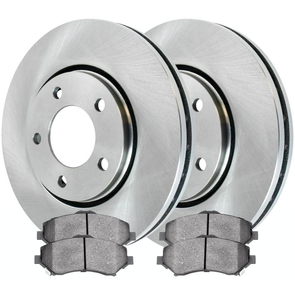 [Front Set] 2 Brake Rotors & 1 Set Ceramic Brake Pads - Part # RSCD63053-63053-1273-2-4